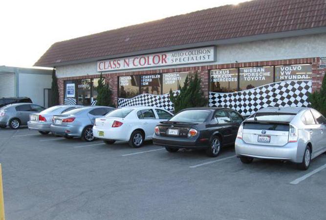 Shop Facade With Cars